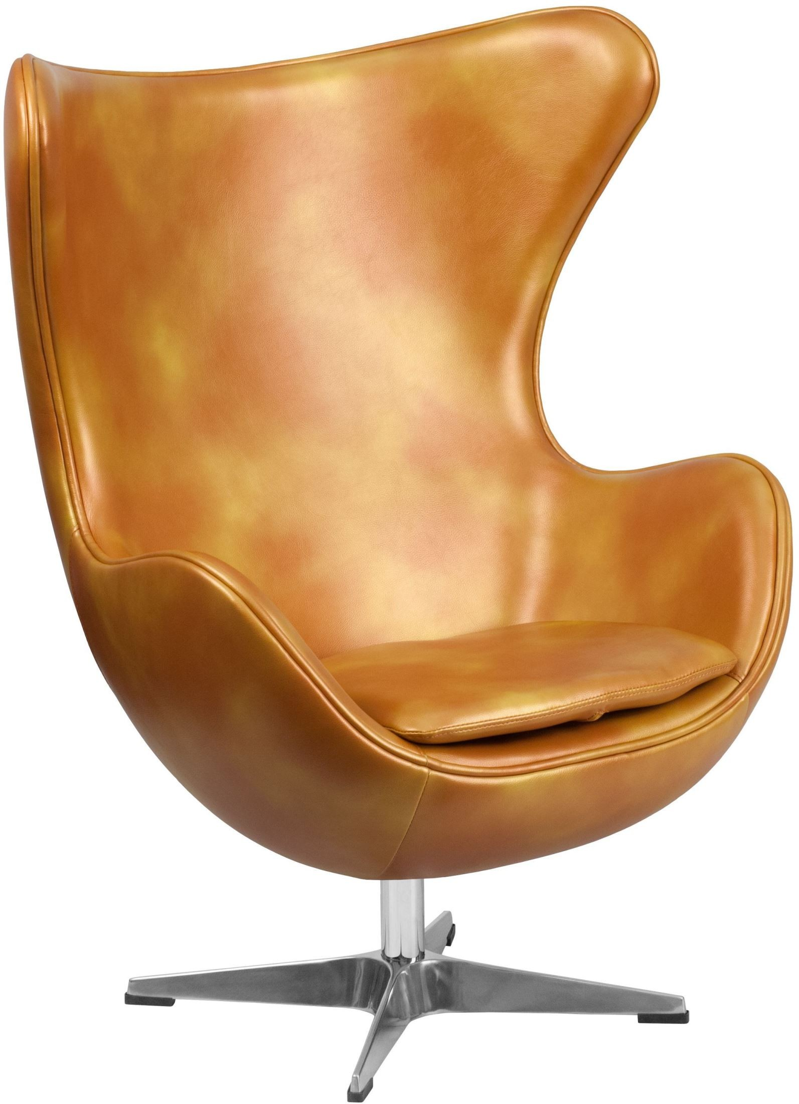 Used Egg Chair Gold Leather Egg Chair With Tilt Lock Mechanism From