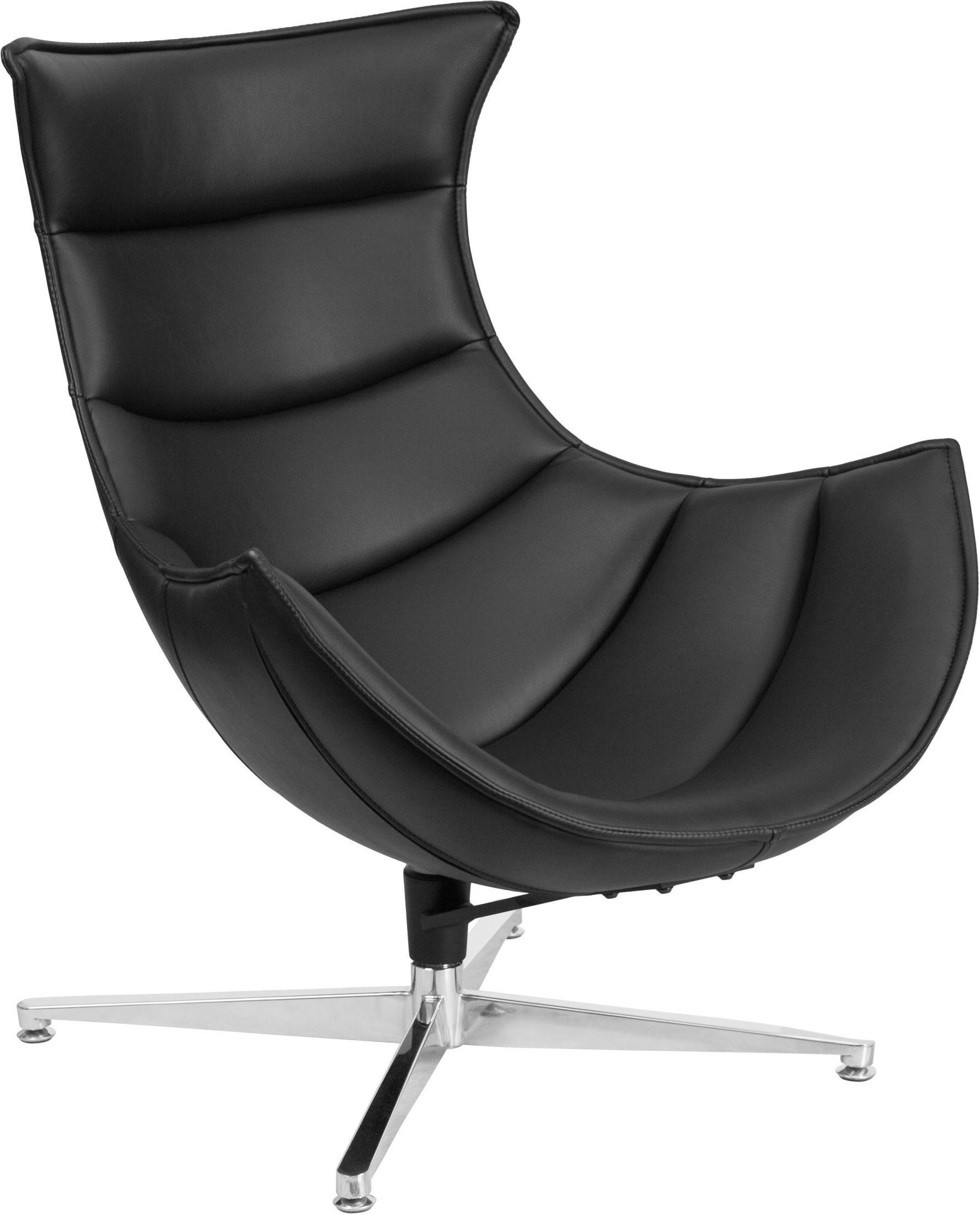 Cocoon Chair Black Leather Swivel Cocoon Chair Zb 31 Gg Renegade