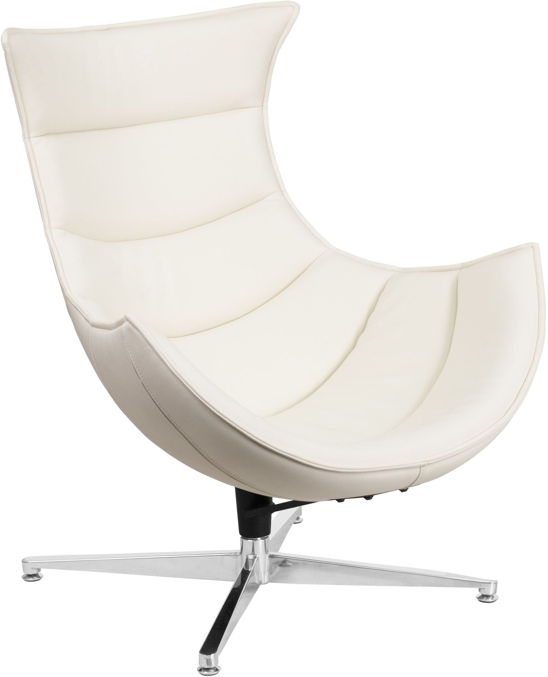 White Leather Swivel Chair White Leather Swivel Cocoon Chair From Renegade Coleman