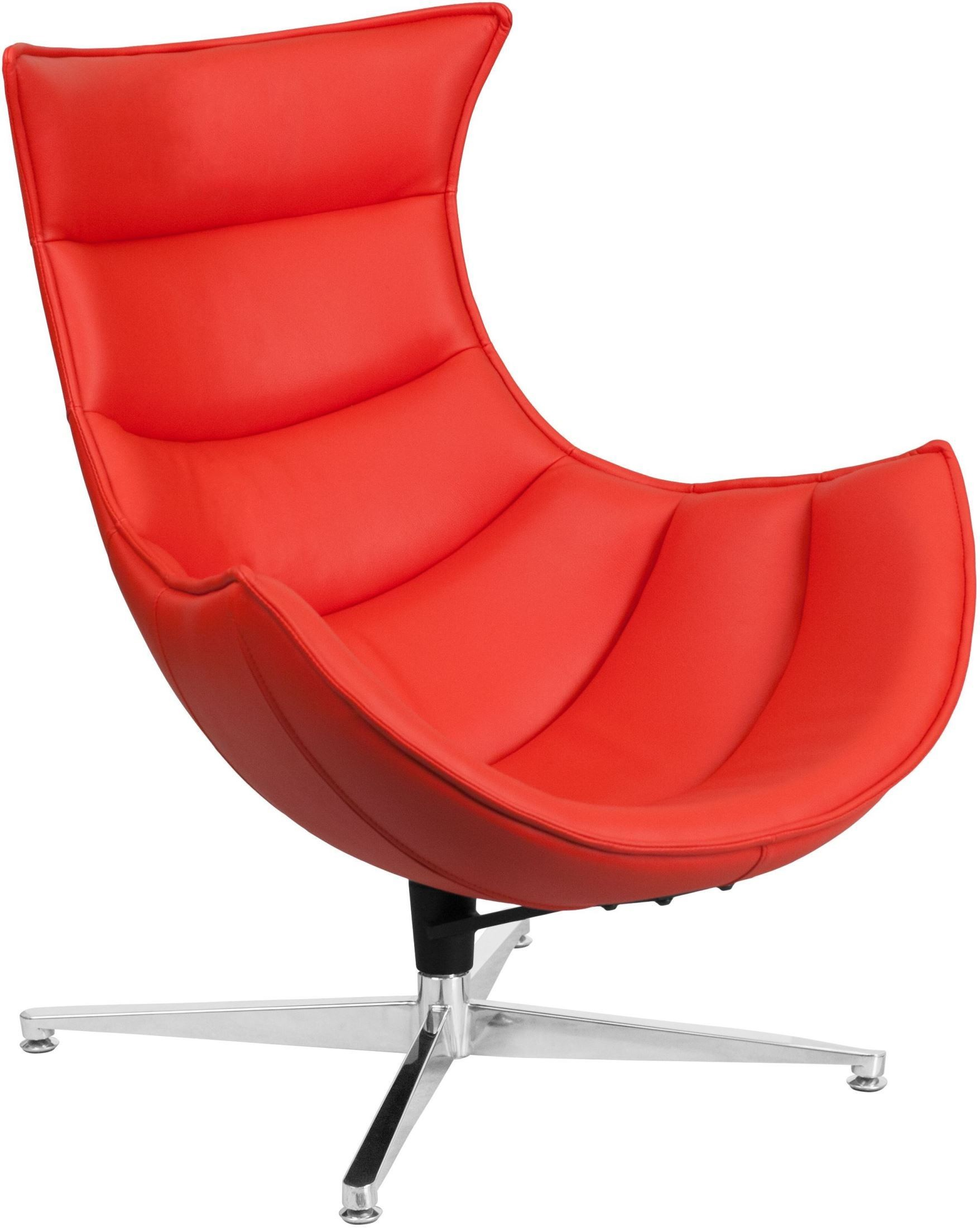 Cocoon Chair Red Leather Swivel Cocoon Chair From Renegade Coleman
