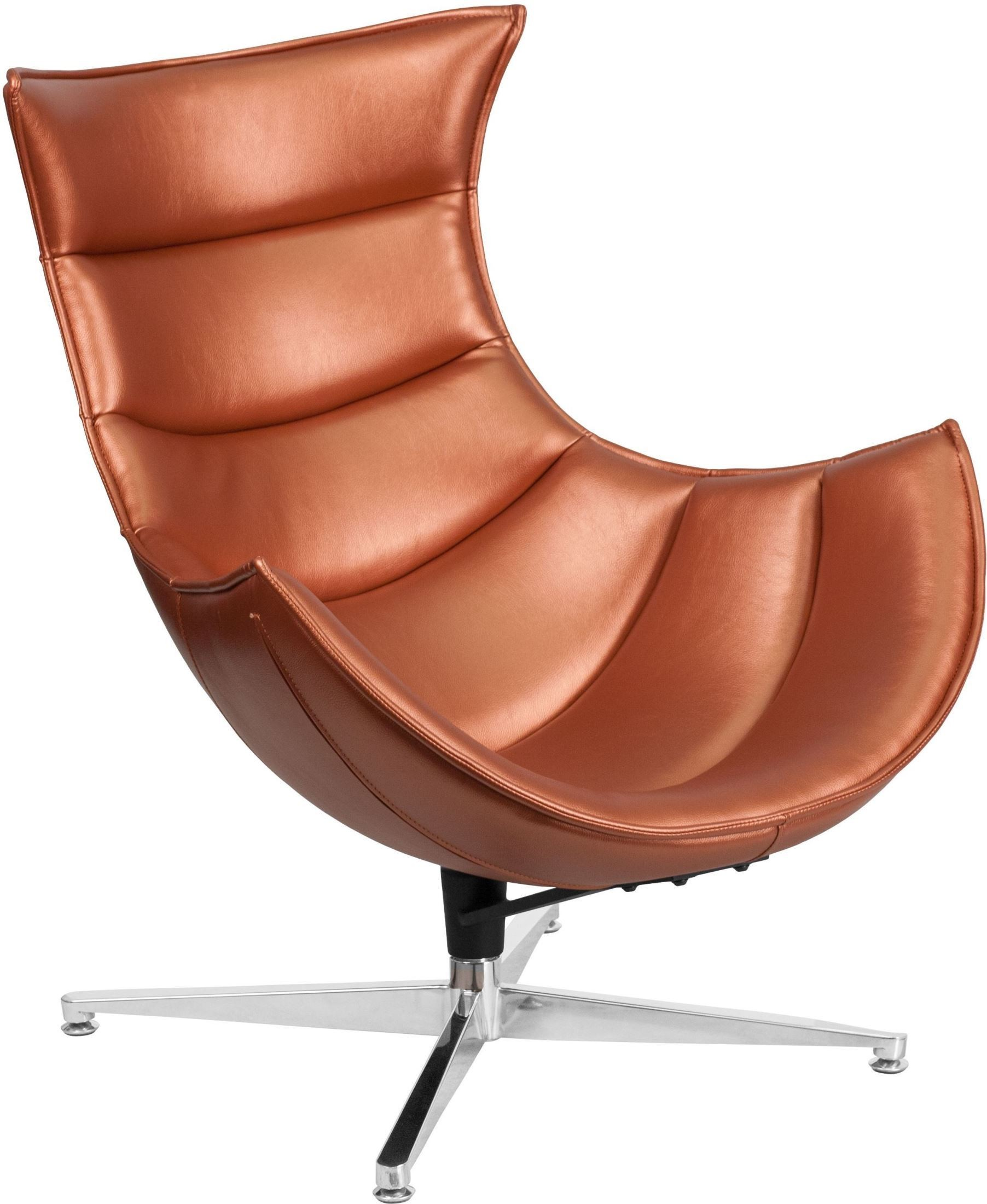Cocoon Chair Copper Leather Swivel Cocoon Chair Zb 36 Gg Renegade
