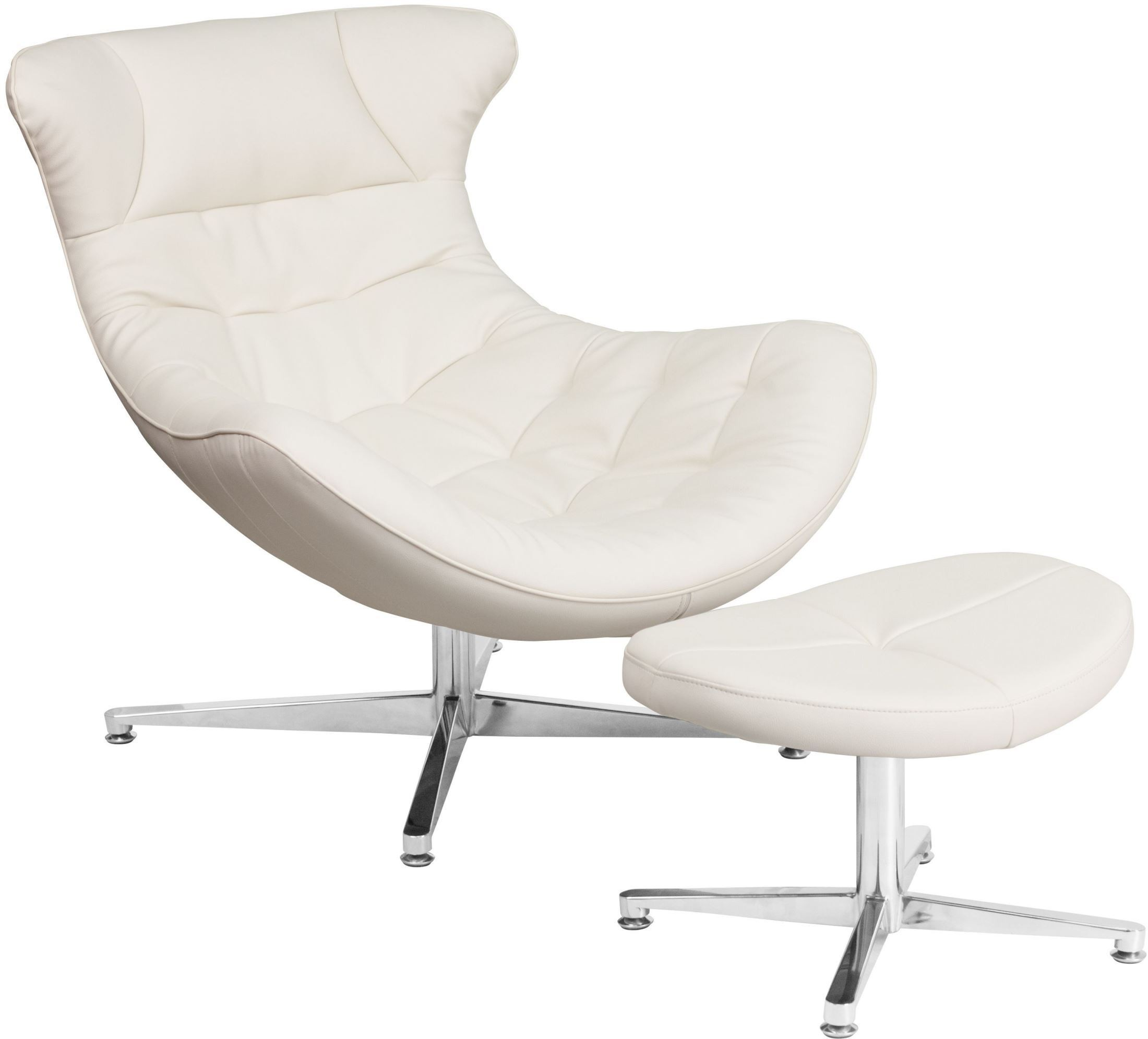 Cocoon Chair White Leather Cocoon Chair With Ottoman From Renegade
