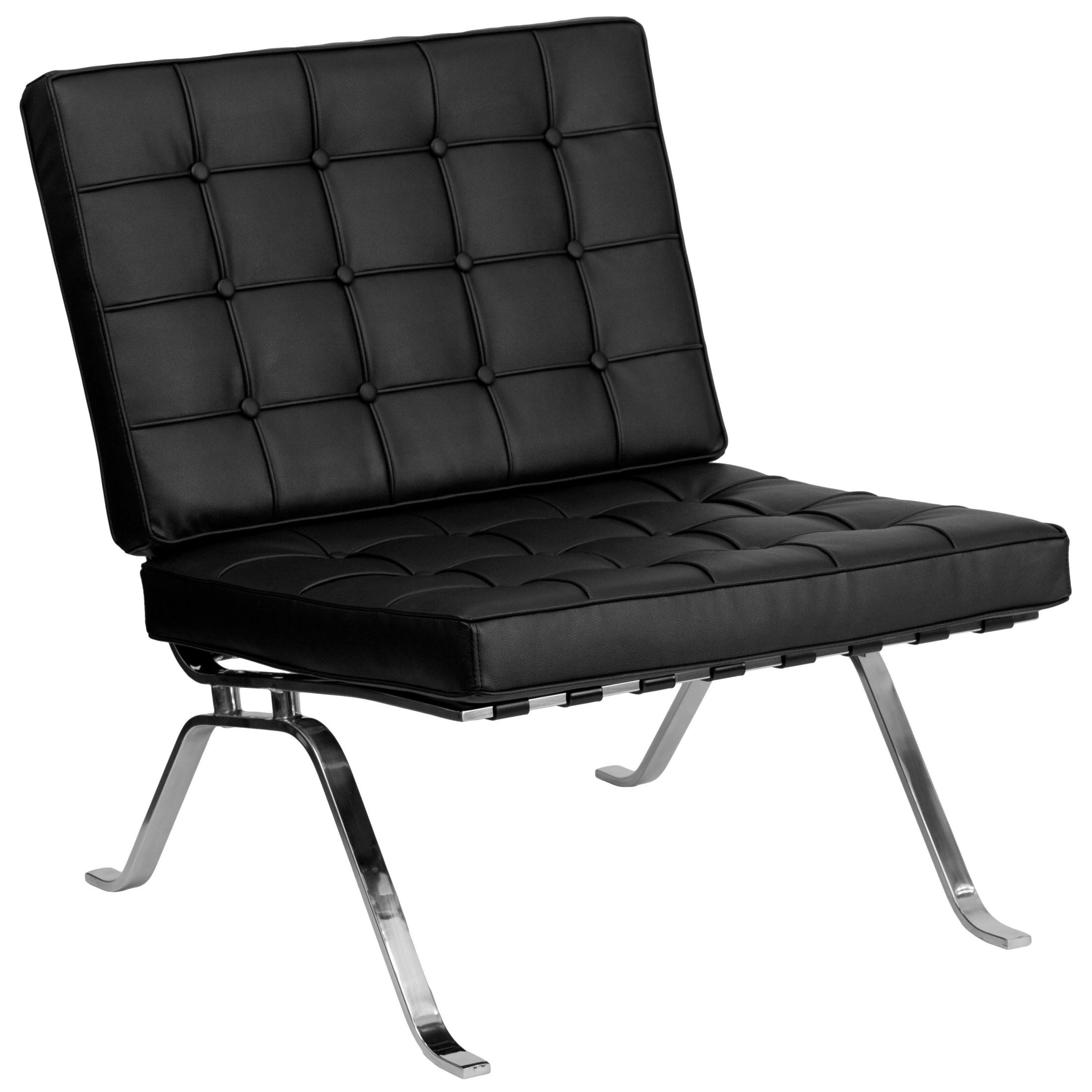 Black Leather Lounge Chair Hercules Flash Series Black Leather Lounge Chair With