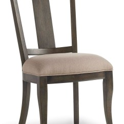 Gray Side Chair Plastic Garden Chairs Vintage West Charcoal Upholstered Splatback