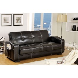 bianca futon sofa bed review what can i use to clean white leather colona black leatherette storage from furniture of
