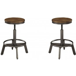 stool under chair recliner chairs garden bar stools get discount on counter coleman furniture torjin brown and gray set of 2