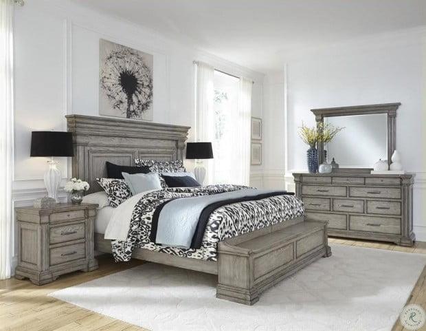 madison ridge soft grey storage bedroom set
