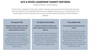 Aco Payer Leadership Summit