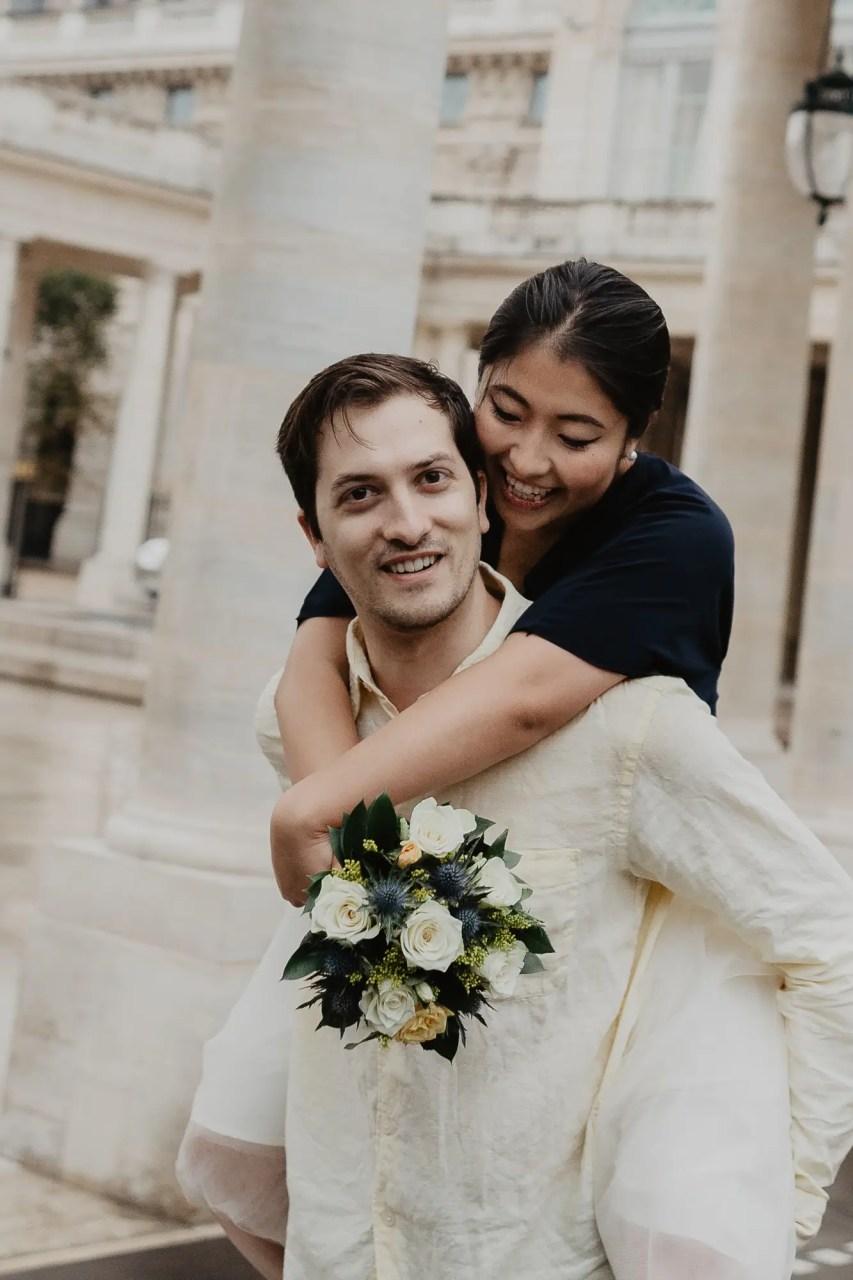 Couple Photography Palais Royal Paris