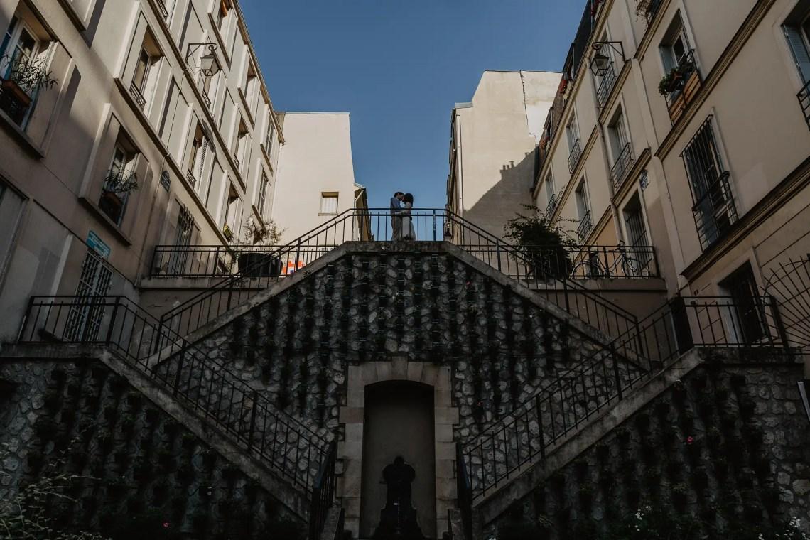 Couple in Parisian street