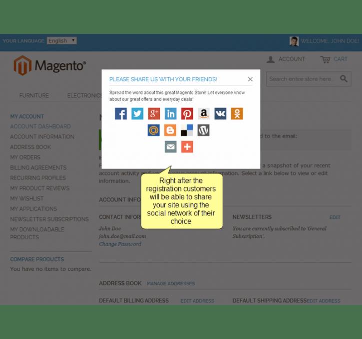 Twitter & Facebook Login by Plumrocket Inc   MageCloud.net