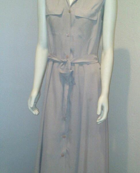 edf51d21f Vtg 90 s Silk Beige Dress by Liz Claiborne Collection – Da-Sebra Vintage