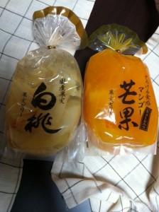 サンヨー堂とろける食感マンゴー、国産白桃