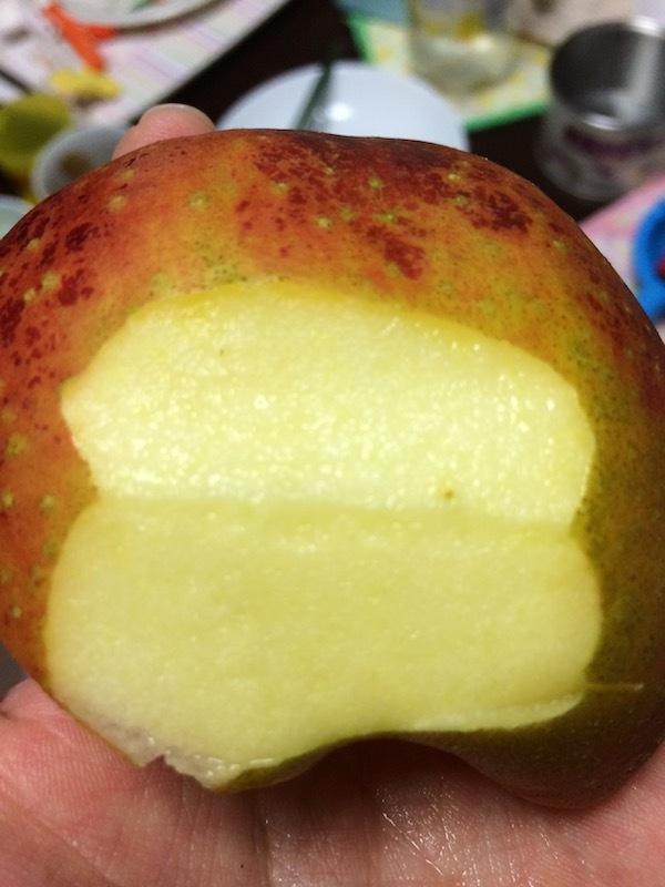長野県上田市の応援販売、ひょうに当たった果実、JA信州うえだの合戦りんごが美味しいのでおすすめ