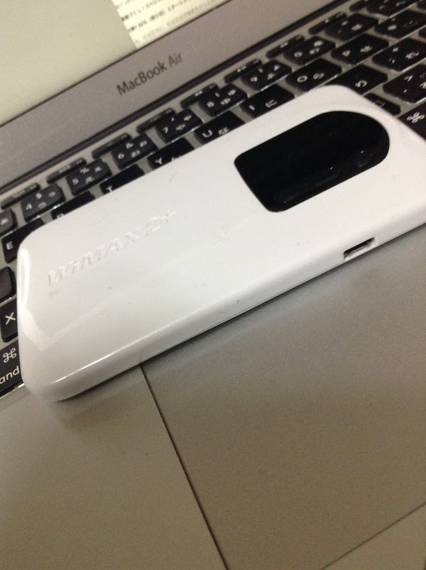 WiMAX2+ Speed Wi-Fi NEXT WX02はバッテリーの持ち時間が短い