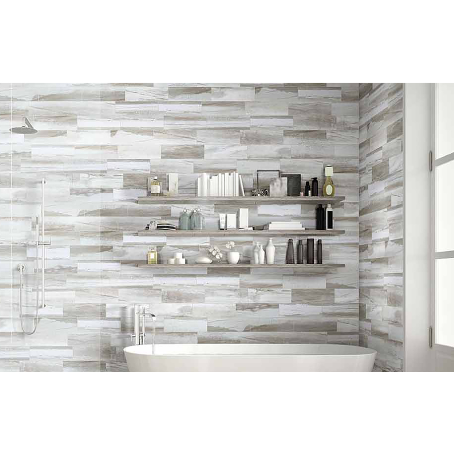 american villa 4 in x 12 in water falls river rush porcelain limestone floor and wall tile