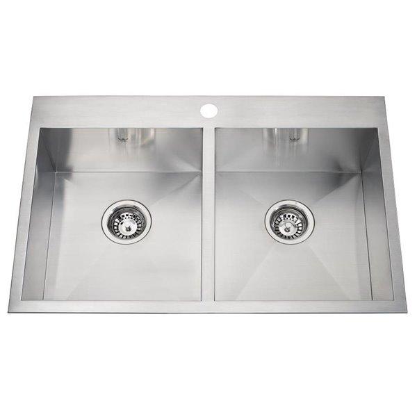 kindred drop in undermount kitchen sink 20 9 16 x 31 1 4