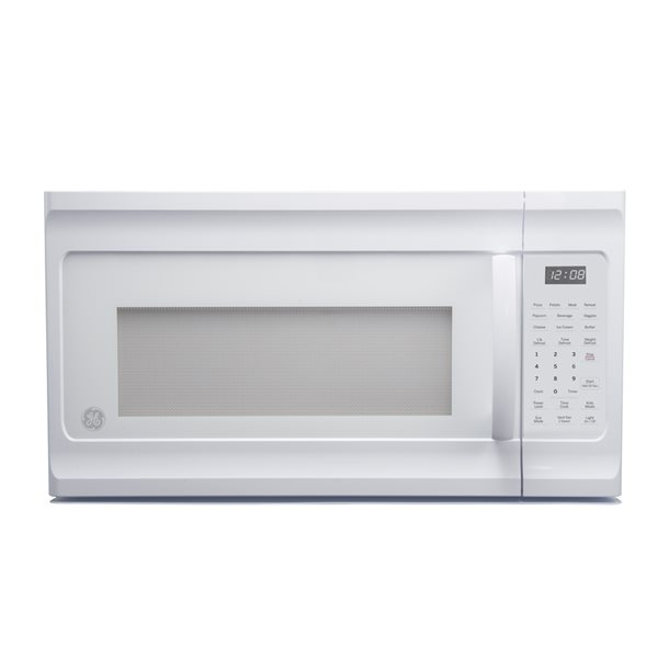 ge 1 6 cu ft over the range microwave white common large 1 5 cu ft actual 29 875 in
