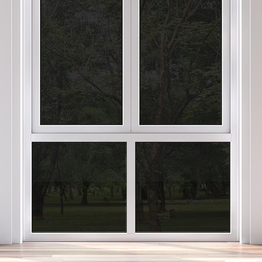 gila 36 in x 78 in black privacy control static cling window film