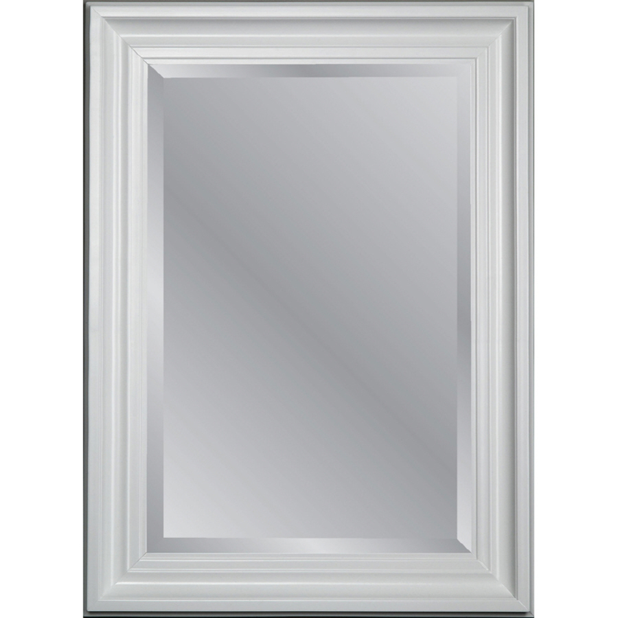 Allen Roth 31 75 In X 43 75 In White Beveled Rectangle Framed Country Wall Mirror Lowe S Canada