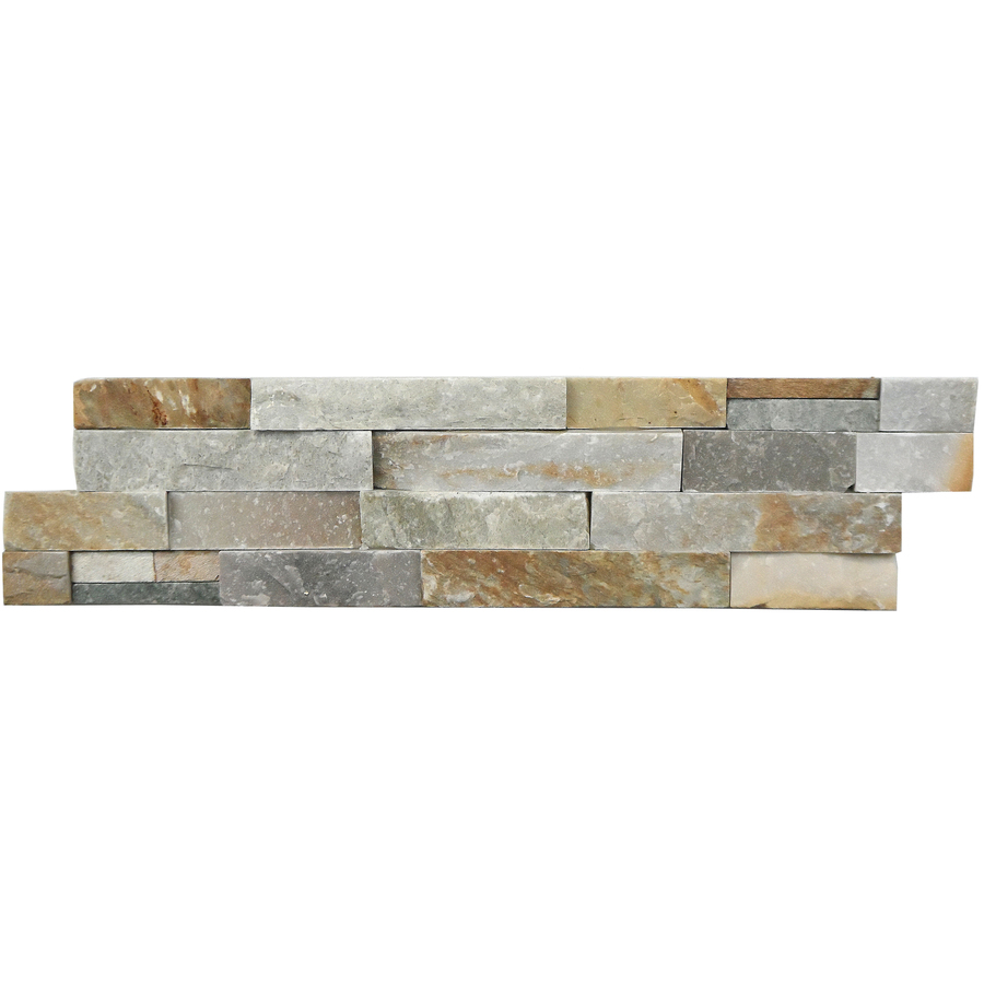 avenzo 24 in x 6 in beige natural slate stone split face wall tile 6 pack