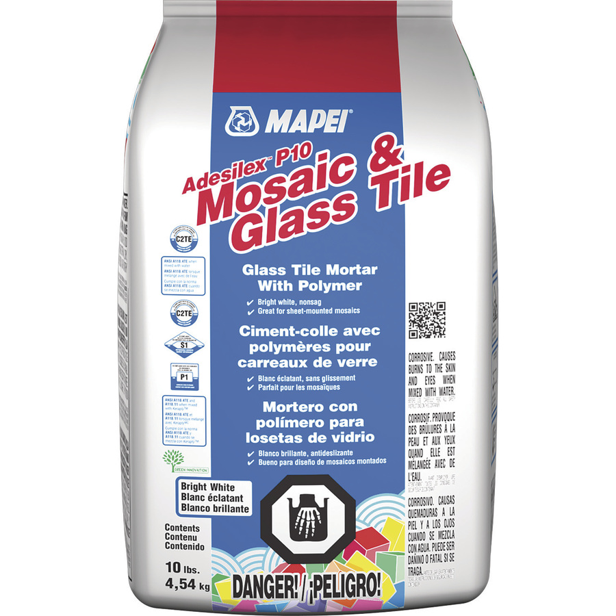 mapei 10 lb adesilex p10 thin set mosaic and glass tile mortar