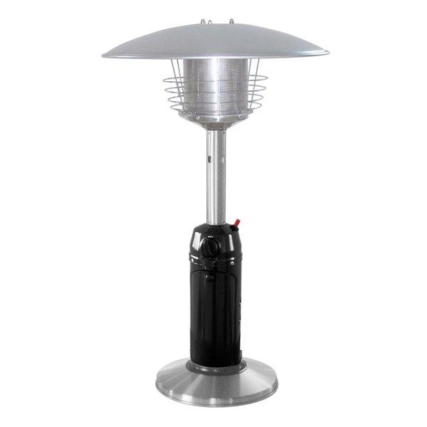 11000 btu black stainless steel tabletop propane patio heater