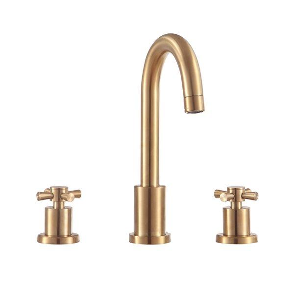 avanity messina 8 in gold bathroom faucet