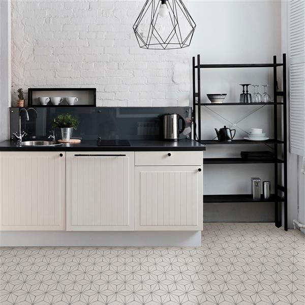 Wallpops Kikko Self Adhesive Floor Tile 24 In X 60 In Gray Lowe S Canada