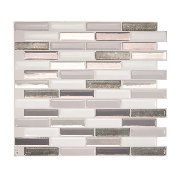 smart tiles milenza bigio 10 in x 10 in self adhesive mosaic wall tile