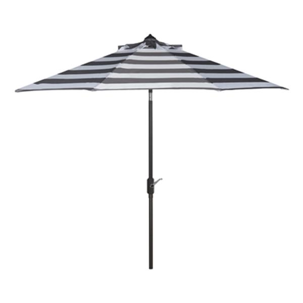safavieh patio iris fashion line 9 ft grey white patio umbrella