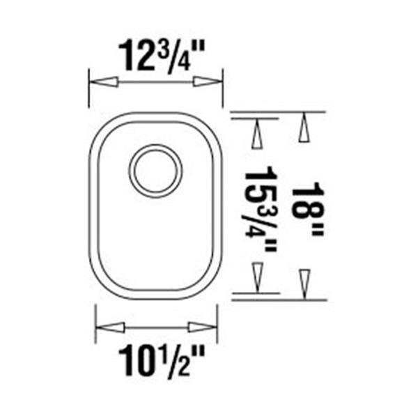 blanco wave plus 18 in x 12 75 in x 7 in stainless steel single bowl undermount kitchen sink