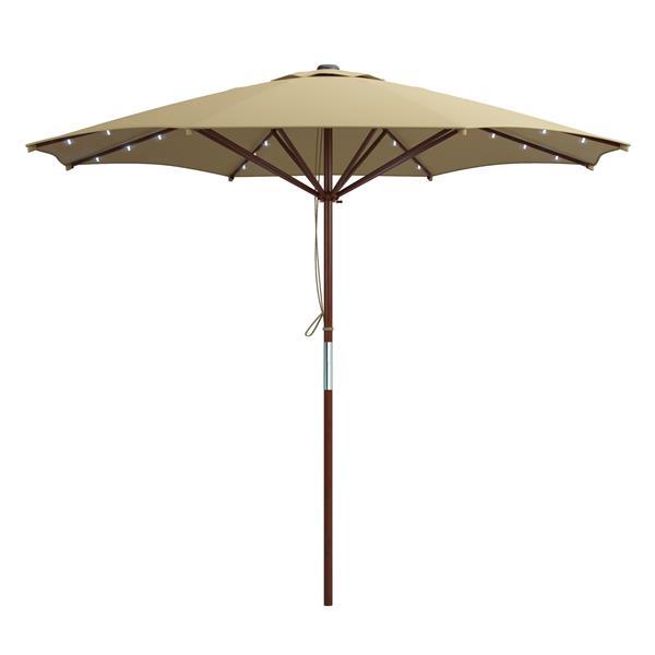 patio umbrella with solar power led lights