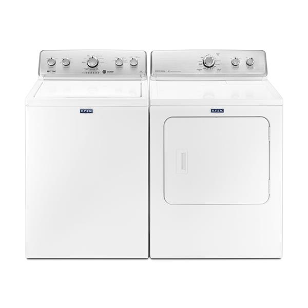 Maytag Top Load Washer And Dryer Set Mvwc565fw Ymedc555dw White Lowe S Canada