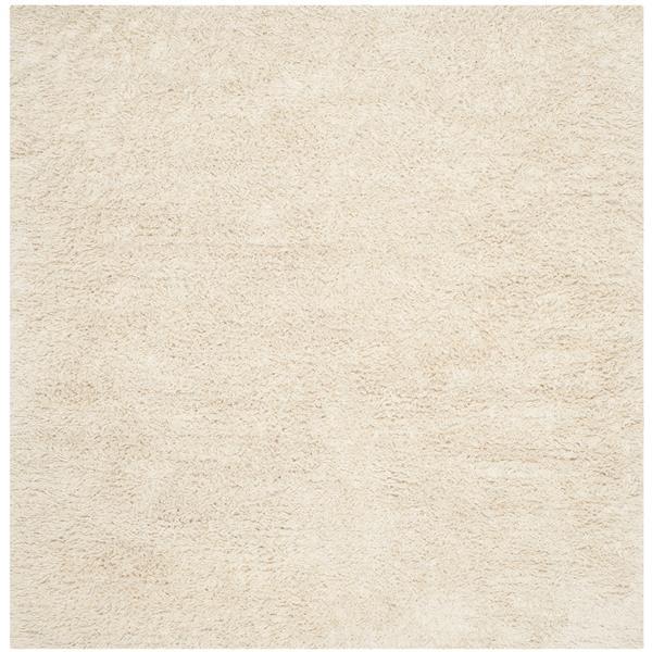 safavieh square shag rug 8 x 8 wool ivory