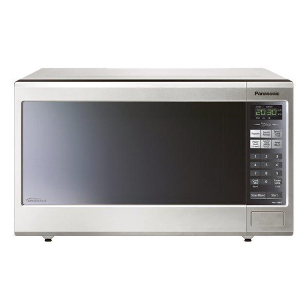 panasonic genius 1 2 cu ft 1200 watt countertop microwave stainless steel