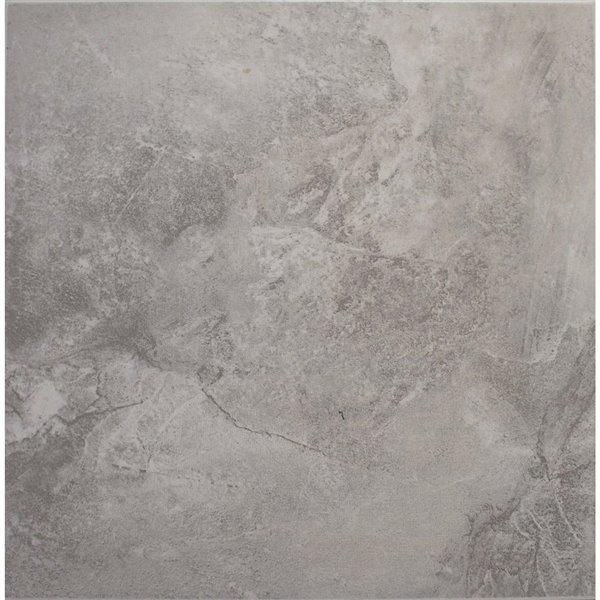 avenzo 13 in x 13 in avenzo gray ceramic floor tile