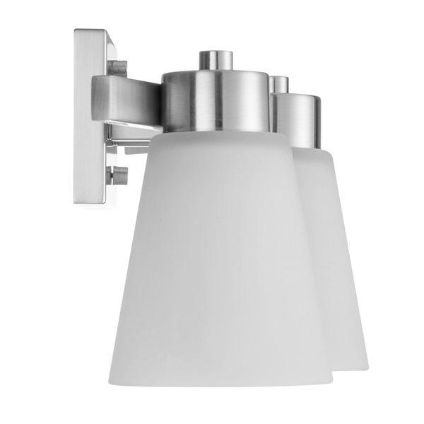 portfolio 3 light brushed nickel bathroom vanity light