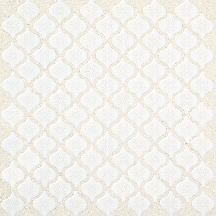 american olean arabesque 12 in x 12 in white glazed porcelain wall tile