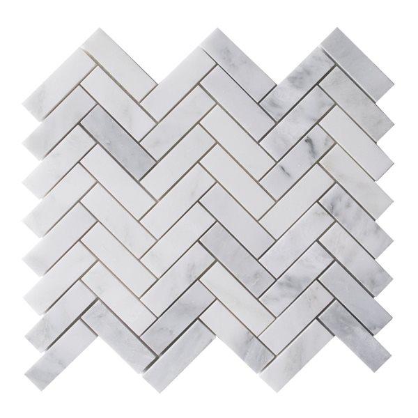 bestview boardwalk herringbone 12 in x 12 in natural stone mosaic wall tile