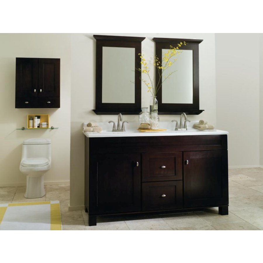 Diamond Freshfit Diamond Fresh Fit Palencia Espresso Bathroom Mirror Lowe S Canada