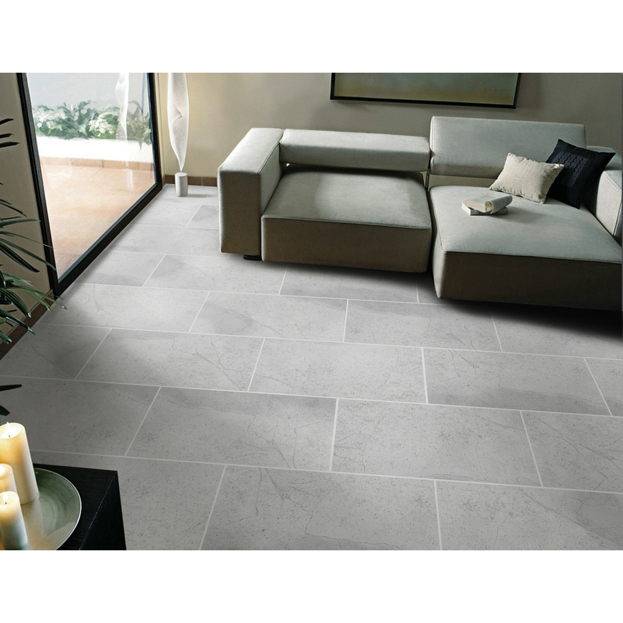 faber atlantis 12 in x 24 in silver porcelain floor tile