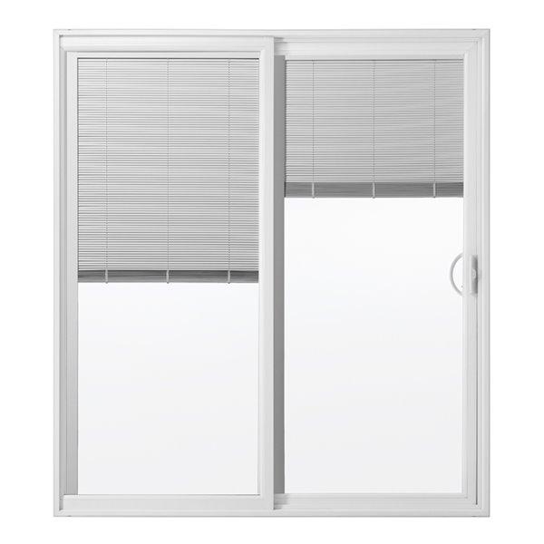 reliabilt blinds between the glass vinyl sliding patio door screen included