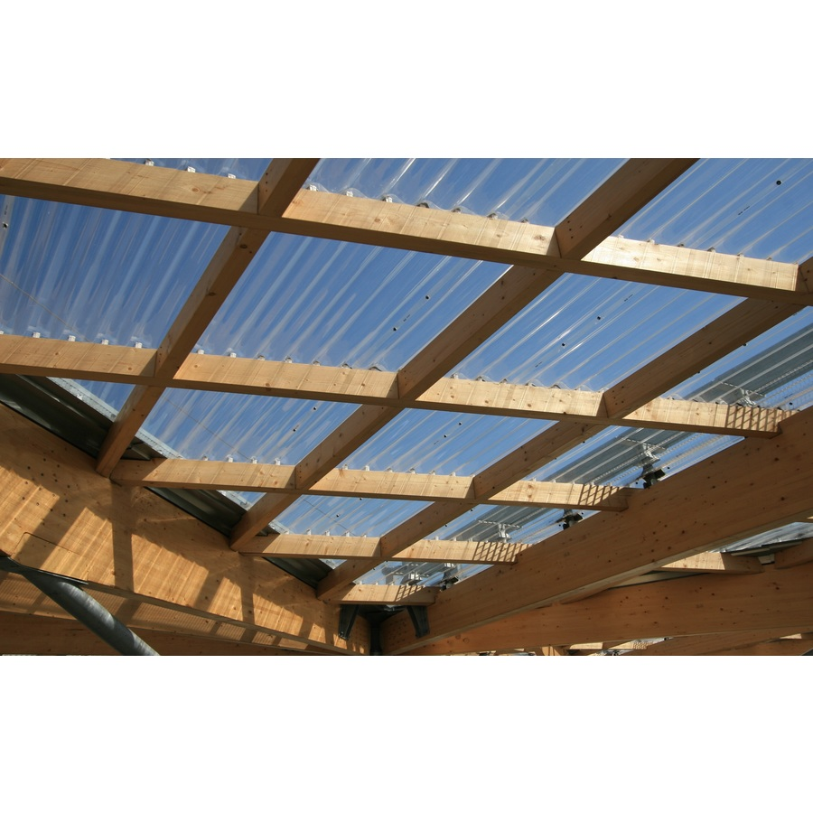 polycarb 26 in x 12 ft translucent corrugated polycarbonate roof panel