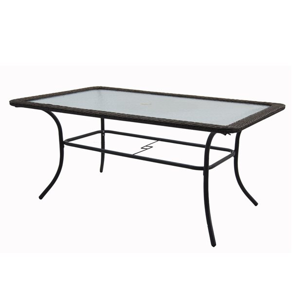 style selections 63 in spruce hills rectangular patio dining table