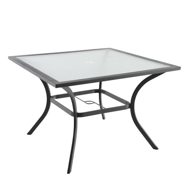 style selections vinehaven square patio dining table 42 in brown
