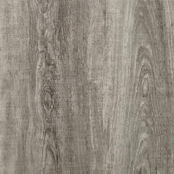 cryntel selectionsplus pewter 2 mm peel and stick luxury vinyl tile flooring 6 in w x 36 in l
