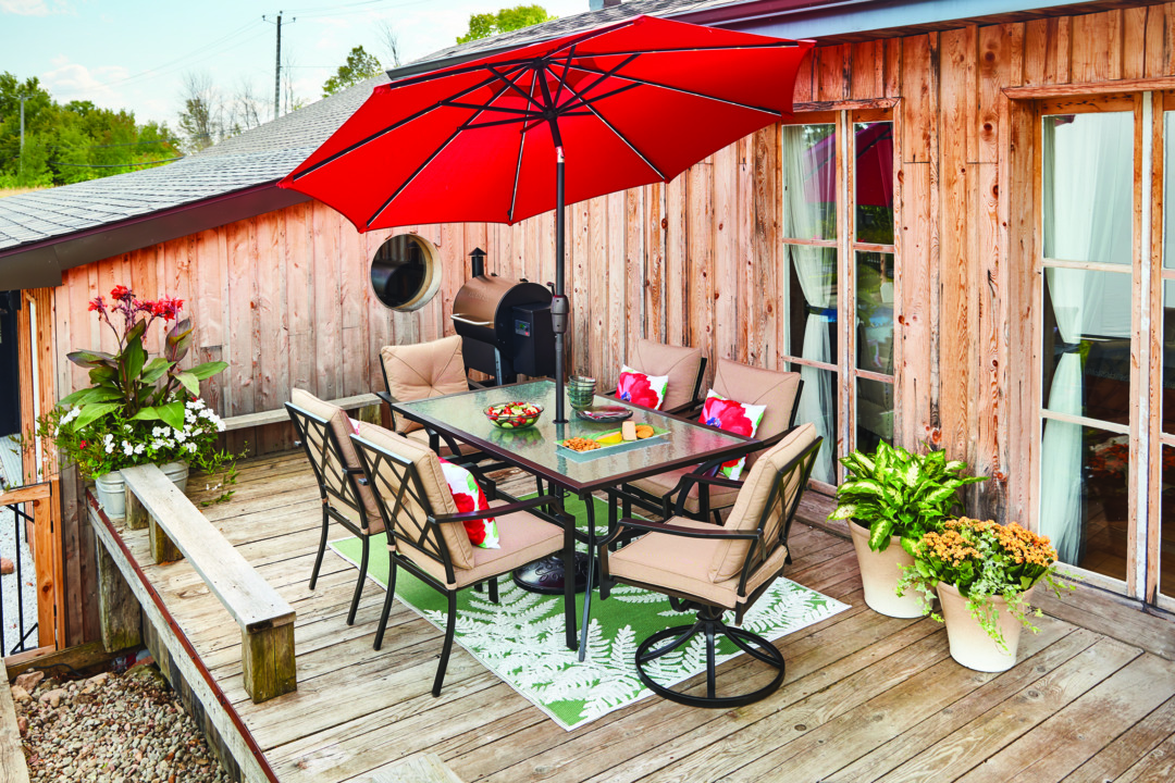 style selections 9 ft market umbrella with solar led lights red canopy