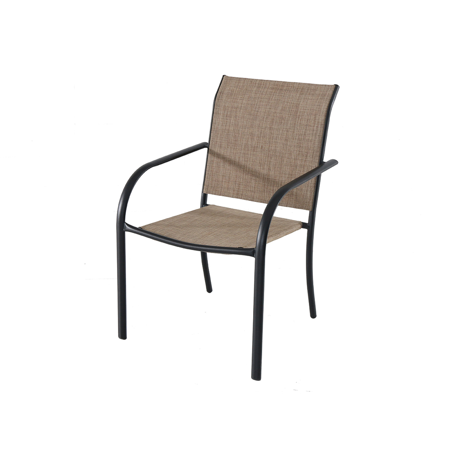 style selections ashville stackable sling patio chair