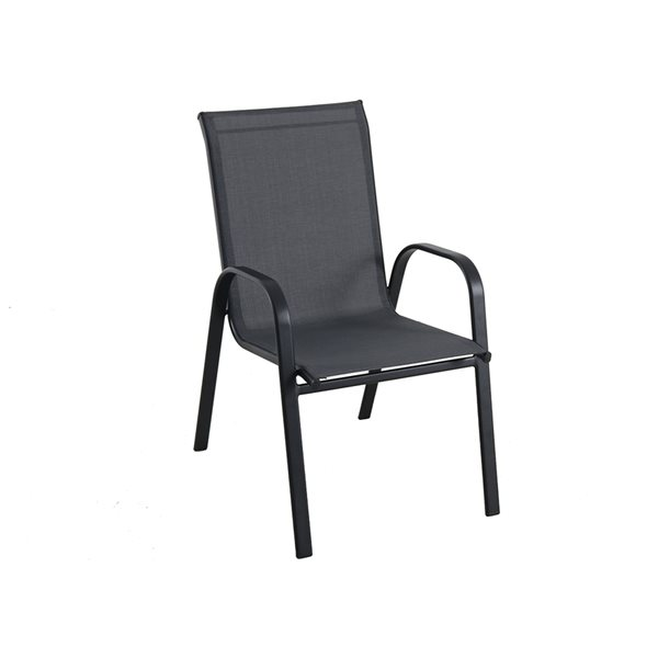 style selections stackable patio chair black
